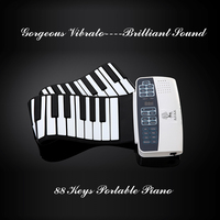Musical instrument Soft portable flexible 88 keys roll up piano electronic keyboard usb piano keyboard for pc