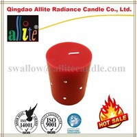 paraffin wax of decorative luxury pillar candles