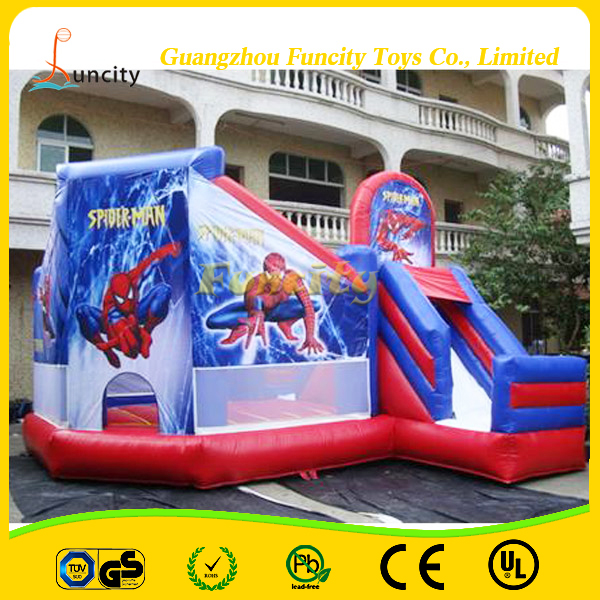 Funcity Outdoor Spider-man Inflatable Jumping Bouncy House/Inflatable Bouncy Combo For 2016