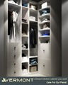 American High-end Male Plywood Closet Cabinets Without Doors Bedroom Wooden Wardrobe Designs