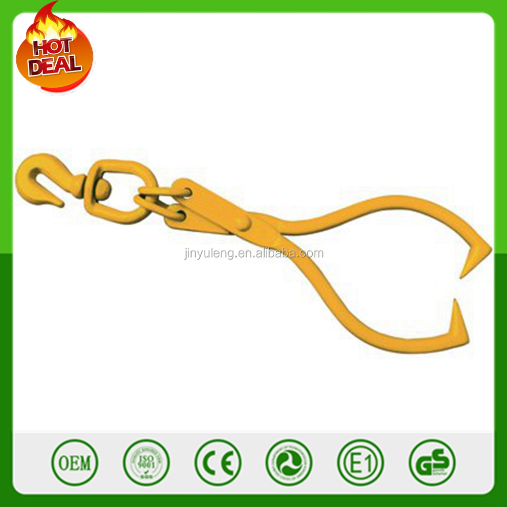 1,500 Lb Capacity High Carbon Steel Swivel Skidding Tongs log pliers gathering hook Lifting Tongs