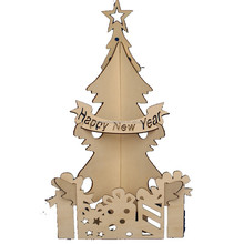 Unfinished Wooden holiday time christmas decorations