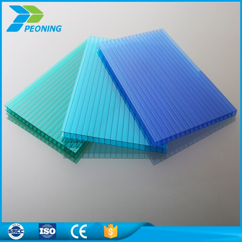 Terse style 10mm twinwall translucent polycarbonate plastic sheet wall
