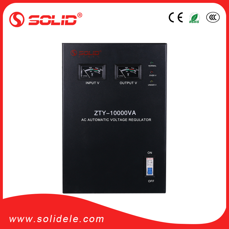 Solid electric 10kva single-phase automatic voltage stabilizer