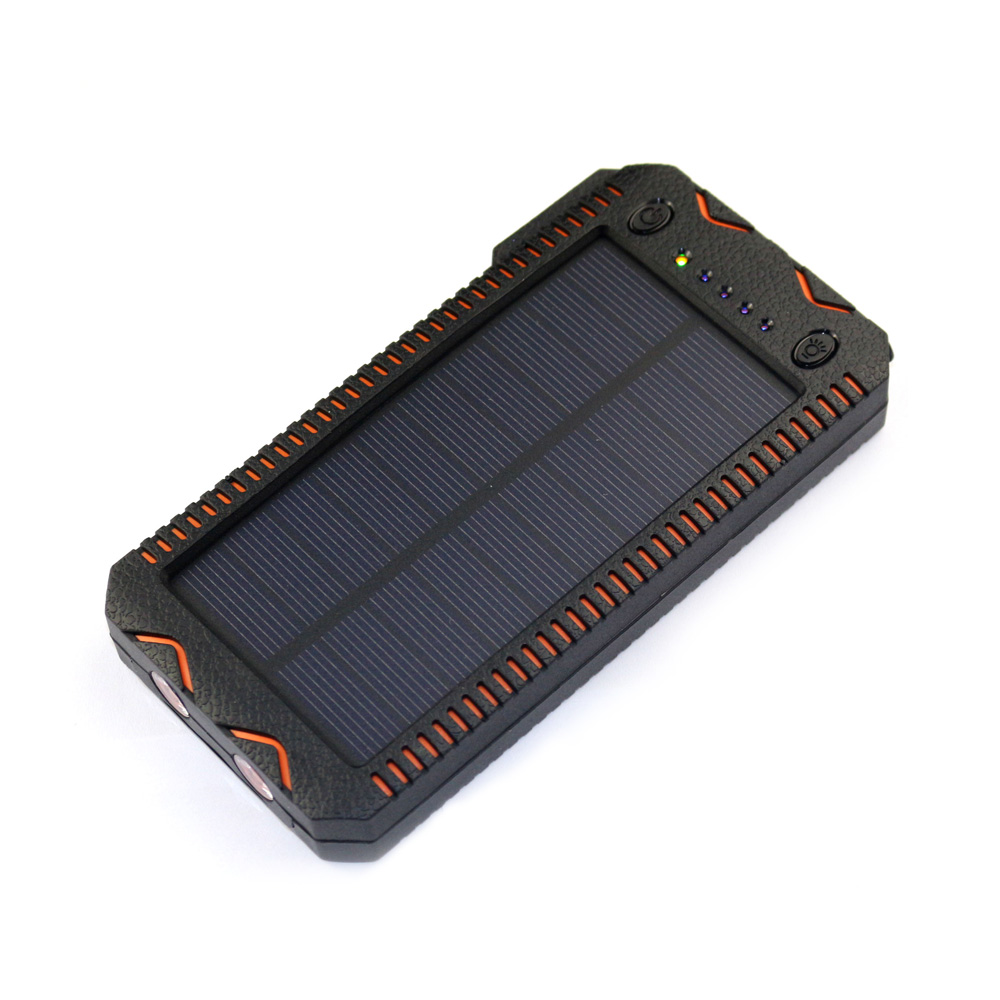 15000mAh solar charger cigarette lighter charge cell phone LED light solar power bank