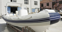 luxury 21.6ft rib boat with console of high quality