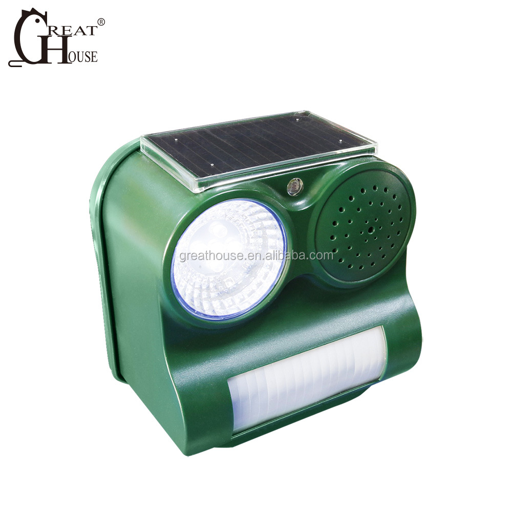 GH-192C Best selling products solar ultrasonic animal repeller bird control