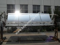 Low price parabolic trough evacuated tube solar collector for solar pool
