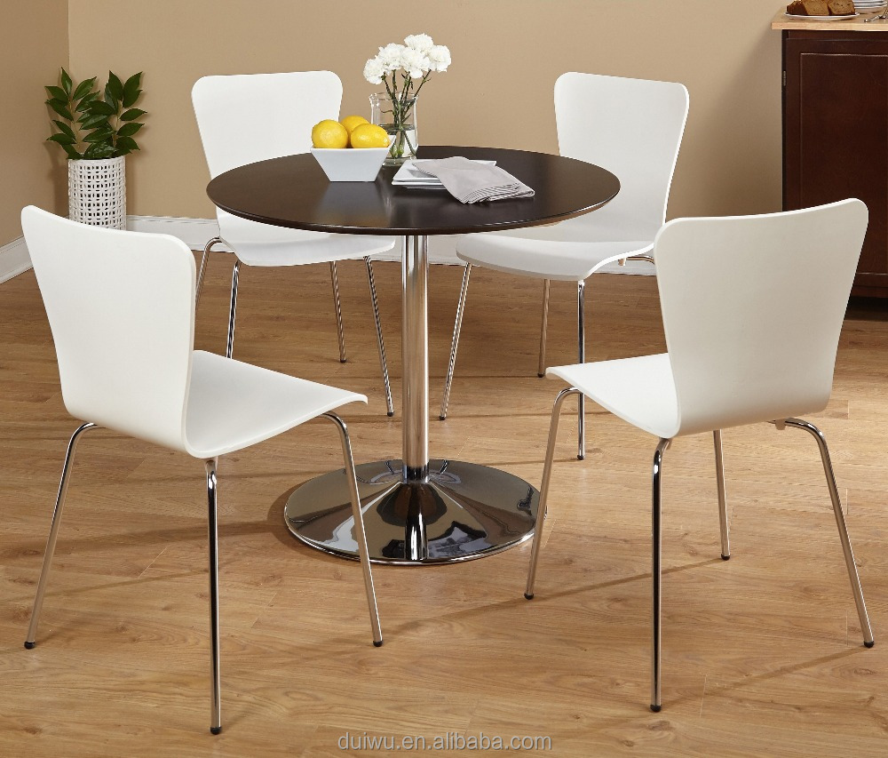 Living room strong 201 stainless steel base modern round glass tea table