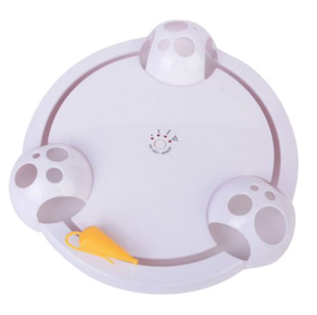Cat Interactive Pet Cat Toys Automatic Rotating Cat Play Teaser Plate Mice Catch Toy Electric Playing Exercise Toy Pet Toys