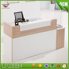 China professional receiption furniture melamine board classic office reception desk manufacturer