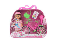 plastic lovely baby toys fashion doll set for girls
