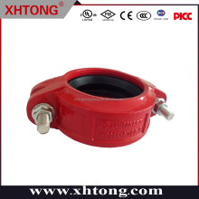 Casting iron grooved pipe fitting FM UL Listed Ductile Iron High pressure Rigid Coupling 1''