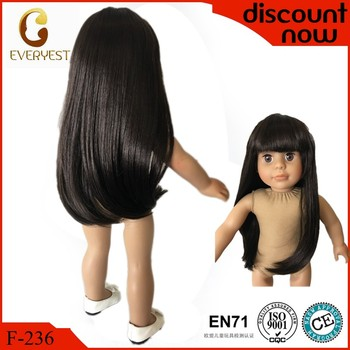 Customize handmade black doll wigs oem doll wig