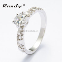 Exquisite Main Stone Ring Clear Cubic Zirconia Brass Ladies Ring