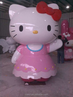 the animation of role hello kitty life-size animal fiberglass sculpture