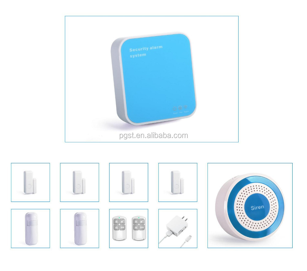 WIFI/ IP network home security alarm system wireless connect cameras