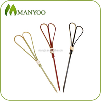 Eco-friendly disposable bamboo picks heart shape food skewer