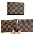 business slim pu leather men's wallet with money clip