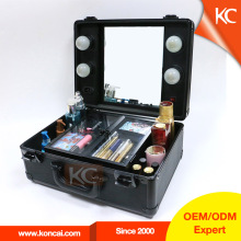 Beautiful professional elegant design small make up light box with mirror
