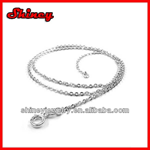 factory hot selling rhodium plating 22 inch 925 sterling silver men chain
