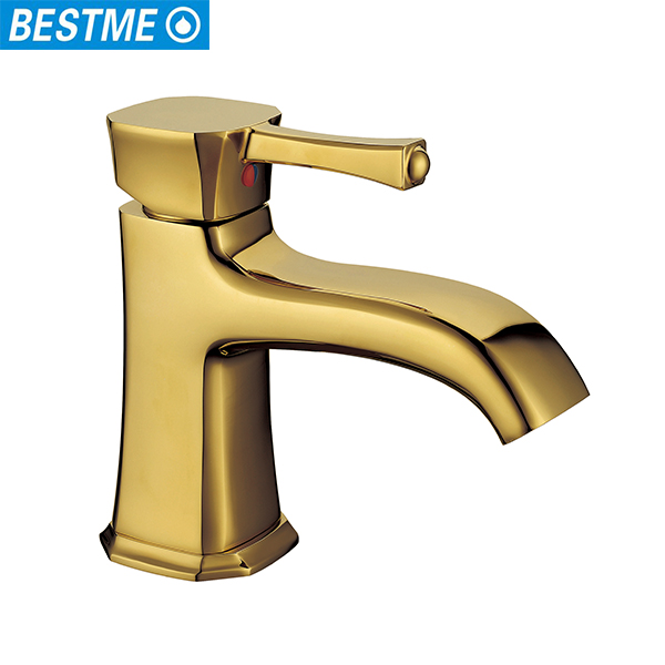 Bestme new design single lever handle brass water basin hair salon faucet
