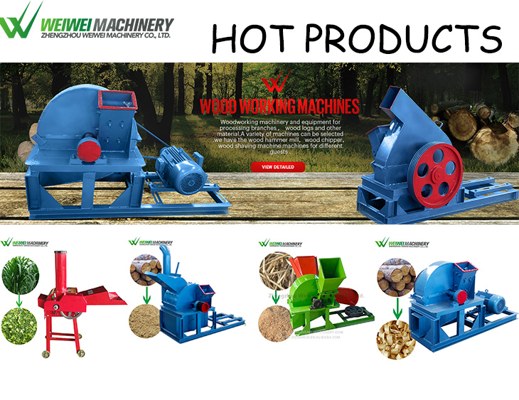 Wei wei 6 inch wood cutting chipper crusher diesel electric driven forestry Waste Wood Shredder machine