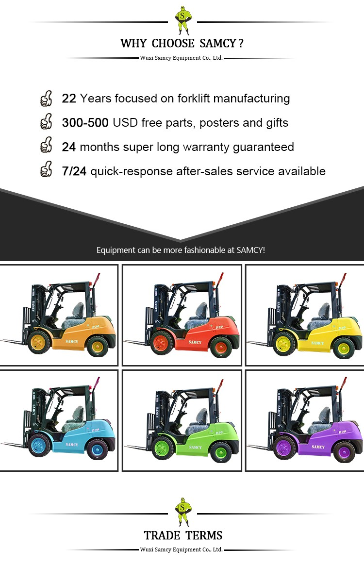 SAMCY Forklift 100% On-time Shipment Protection Manual Forklift