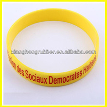 newest fashionable good quality 100% food grade silicone bracelet
