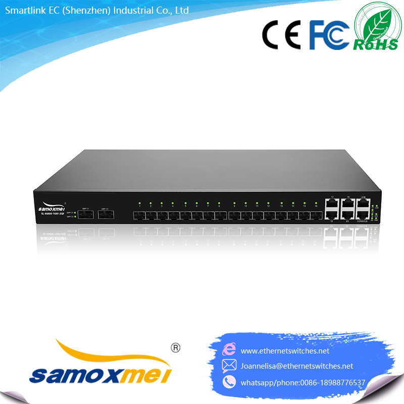 10Gb/40Gb High performance Enterprise Gigabit Network Switch 16port 10G SFP+,2 port 40G QSFP+ and 4*RJ45 ports