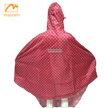 Reusable rain ponchos for riding and bicycle