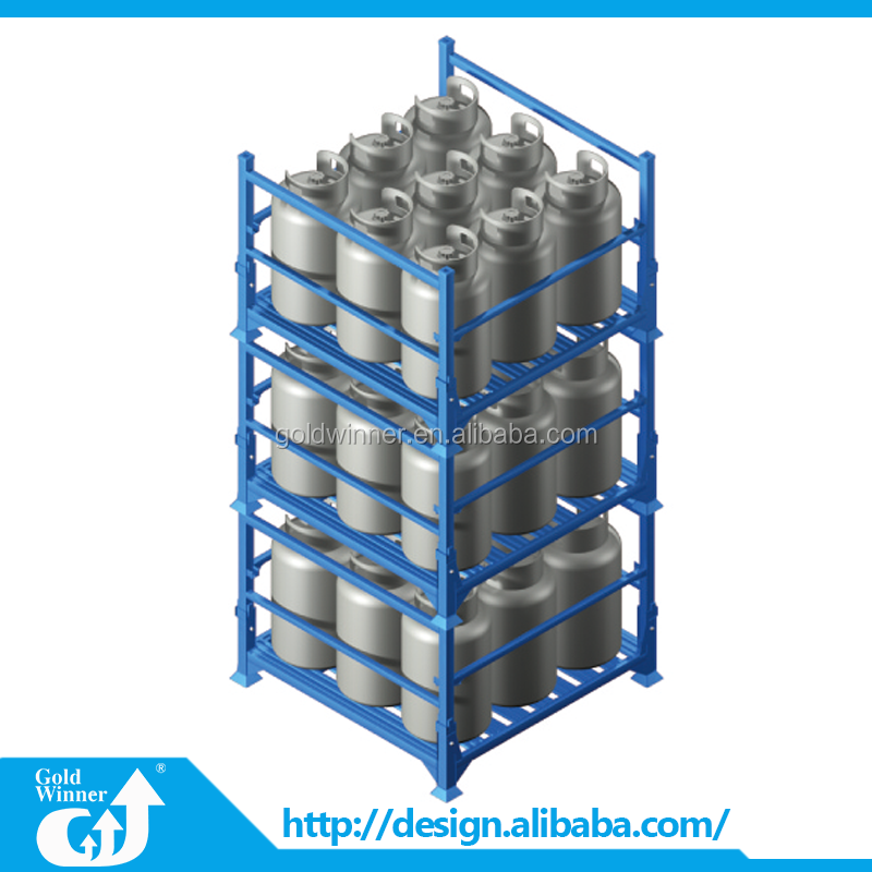 Stackable Rolling Metal Storage Cage Steel Pallet Cages for Sale