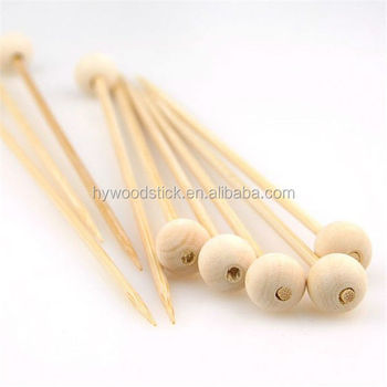 Food Grade Party Decoration ISO9001:2008 FSC Disposable Wood Stick For Candy