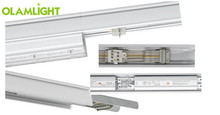 turnking system led linear light 26w 72w with 0.6m 1.5 rail dimmer control display lighting