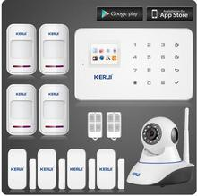 Factory directly offer! burglar alarm system, wireless gsm home alarm system kit KR-G18