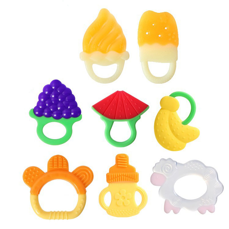 ODM OEM customized quality silicone rubber teething beads glove ring toys