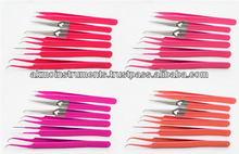 Straight, Curved, Pro Straight, Angled, X Type Eyelash Extension Tweezers / Fine Pointed Eyelash Tweezers / Eyebrow Tweezers