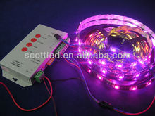 Low voltage 5V 5050 smd magic digital dream color rgb led strip; 30leds/m IP65 waterproof 5050 RGB led flexible strip ws2811