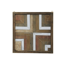 Wooden And Mirror Home Goods Wall Decor