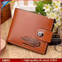Yiwu first goods supply Branded men wallet with Magnetic snap from trading company