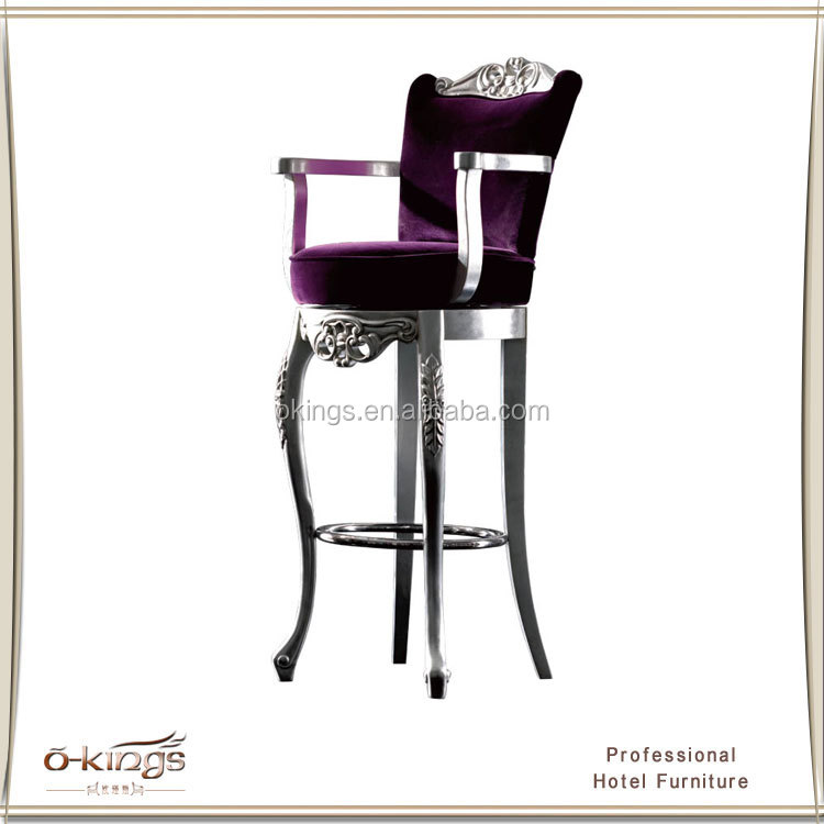 Restaurant Bar Stools,Modern Luxury Wooden Bar Stool