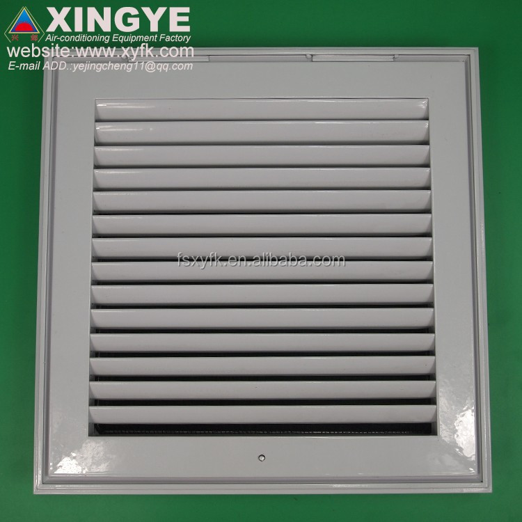 ceiling door return air aluminium ceiling louvers with filter Aluminium Panel Square Return Air Louver with Mesh Filter