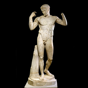 Italian antique marble sculpture stone nude male garden statues