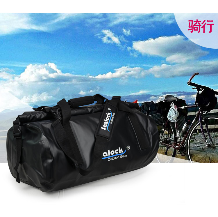 65L Hot fashion Sealock Waterproof outdoor Men Leather Travel bag duffel bag for packing
