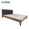 Solid wood double bed compared with bali style wood bed