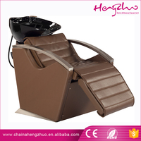 Comfortable lay down washing salon shampoo bed with backrest Rolling massage