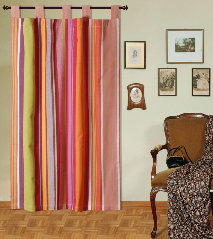 Cotton organdy stripe Curtains