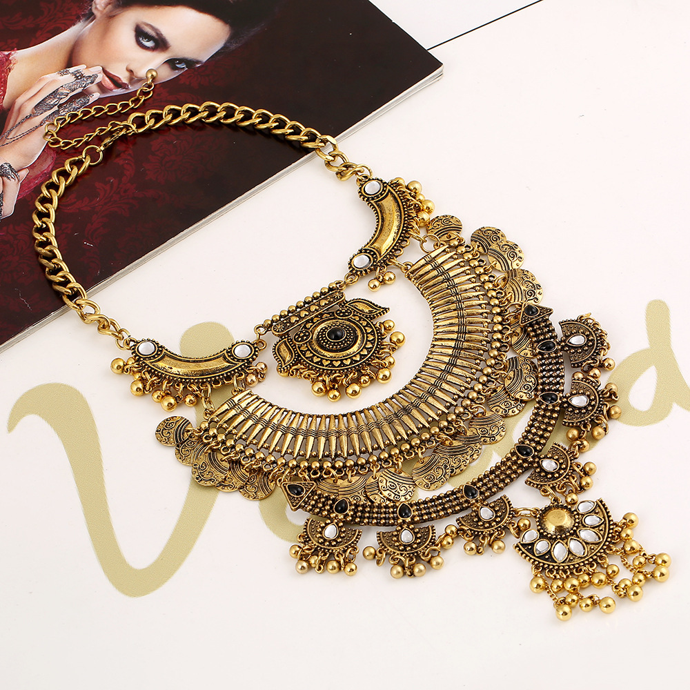 High quality long bohemian maxi statement necklace hot fashion 2015 women fine jewelry pearls beads statement necklace 1084
