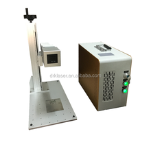 DEREK 10w/20w/30w portable type high speed handy fiber laser marking machine to mark metal with high precision