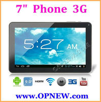 "Cheap 7 inch Phone Call Build in 3G tablet PC WCDMA & GSM wifi + 3G Bluetooth in stock 7"" Capacitive 6 Colors OPNEW"
